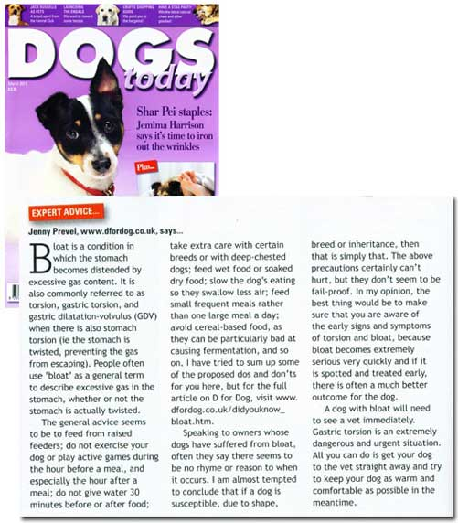 Dogs Today March 2011