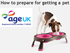 Age UK How to prepare for getting a pet