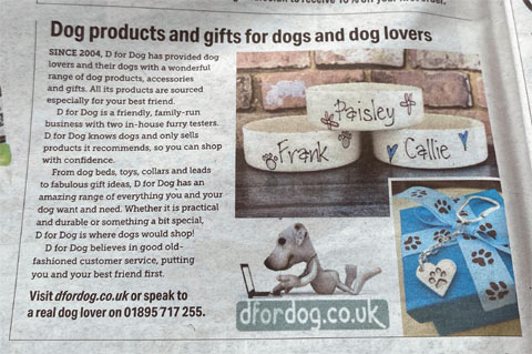 The Times D for Dog online shopping for dog products and gifts