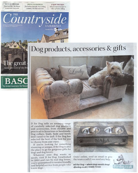 The Sunday Telegraph D for Dog dog products, accessories and gifts