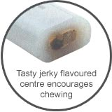 Marrow Bone dog chew with jerkey flavoured centre