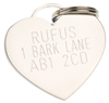 K9 Heart Dog Tag Engraving