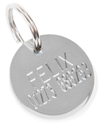 K9 Round Small Dog Tag Engraving
