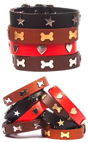leather dog collars studded