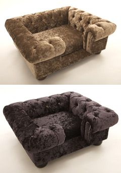 Balmoral Crushed Velvet Luxury Dog Sofa Bed