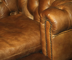 real leather dog bed Chesterfield sofa