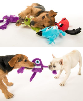 monster soft dog toys with squeaker