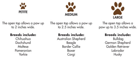 MudBuster breed sizes