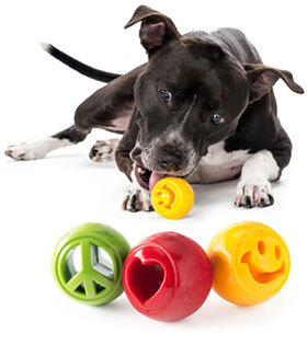 Planet Dog Orbee-Tuff Nooks dog ball chew treat toy