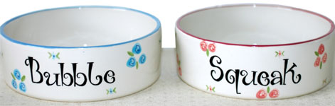Personalised Dog Bowls Ceramic