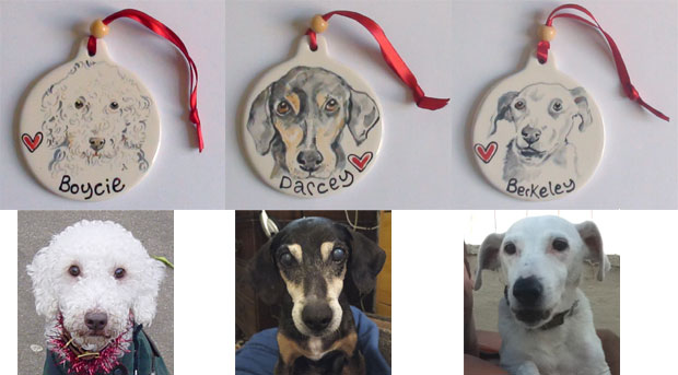 personalised hanging dog decorations
