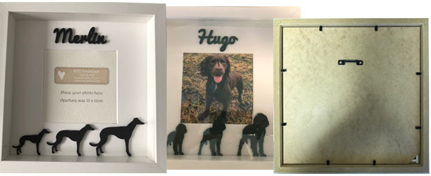 personalised wooden dog photo frame