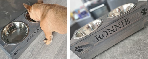 Personalised Grey Dog Bowl
