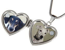 Pet photo locket necklace