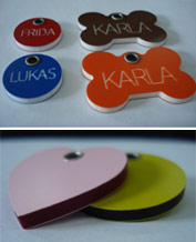 plastic dog id tags