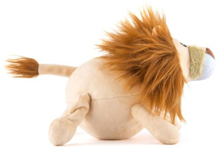 wildlife plush dog toy - lion