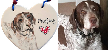 portrait personalised dog plaque