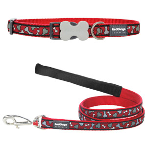 Bonarama Red Collar & Lead Set