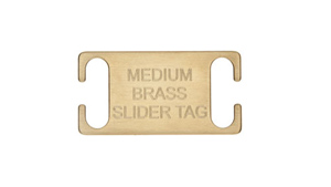 Medium Slide-on Dog Tag - Brass