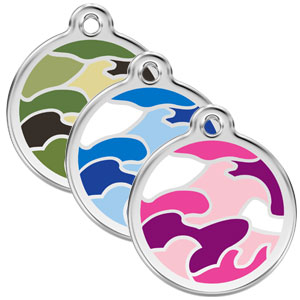 Large Dog ID Tag - Camouflage