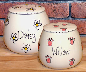 Ceramic Dog Treat Jar With Name - Whimsical