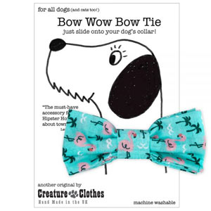 Dog Bow Tie - Flamingo
