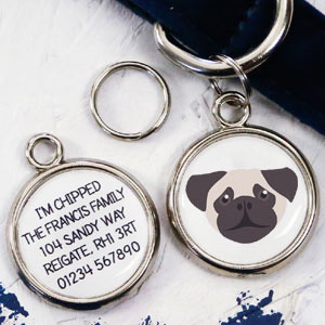 Dog Breed Pet Tag - Pug