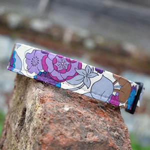 Floral Silk Dog Collar