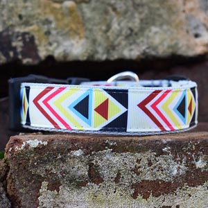 Bright Geometric Dog Collar
