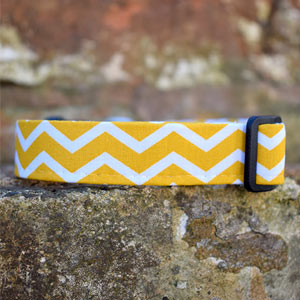 Yellow Chevron Dog Collar