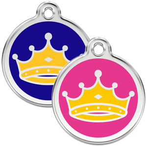 Medium Dog ID Tag - King or Queen