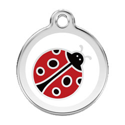Medium Dog ID Tag - Ladybug