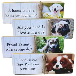 Your Photo Dog Slogan Block