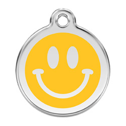 Medium Dog ID Tag - Smiley Face