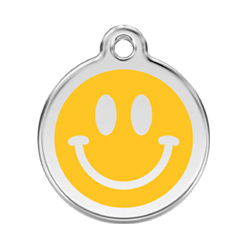Small Dog ID Tag - Smiley Face