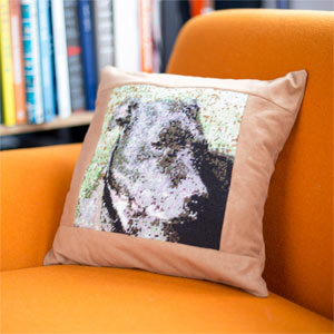 Your Dog Photo Tapestry Cushion Kit
