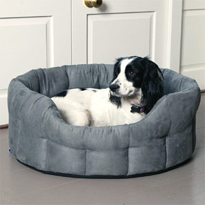 P&L Oval Softee Faux Suede Dog Bed