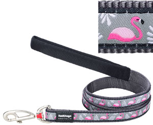 Red Dingo Dog Lead Flamingo