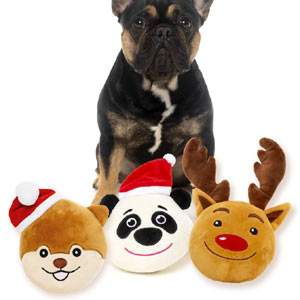 Plush Christmas Dog Balls
