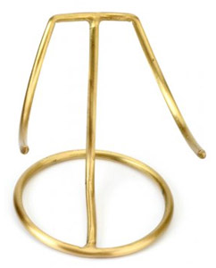 Heart Urn Stand Large Brass