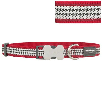 Red Dingo Dog Collar Fang-It