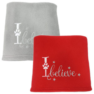 'I believe' Christmas Dog Blanket