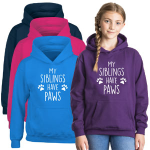 Kids Hoodie - Siblings Have Paws