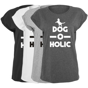 Women's Slogan Slouch Top - Dog-O-Holic