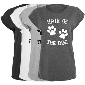 Women's Slogan Slouch Top - Hair of the Dog