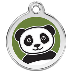 Large Dog ID Tag - Panda