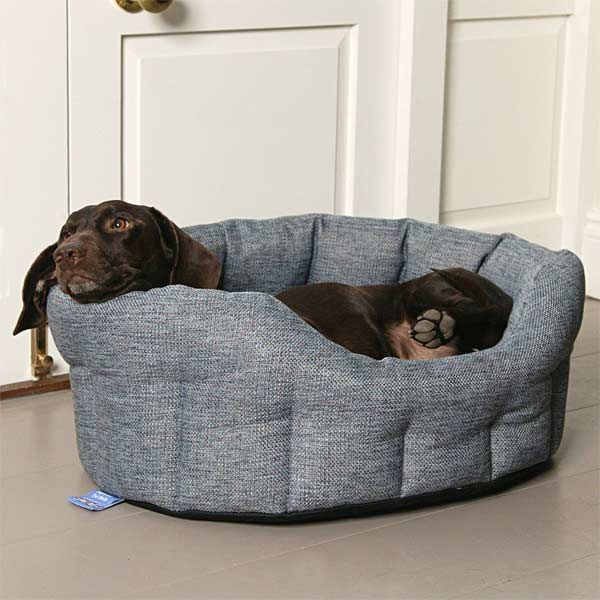 P L Oval Softee Heavy Duty Dog Bed High Sided Uk