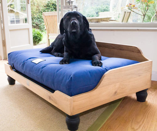 Berkeley Raised Wooden Dog Bed English Oak Uk Made