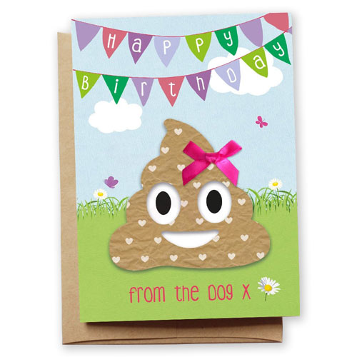 Funny poo emoji birthday card from the dog uk bookmarktalkfo Images