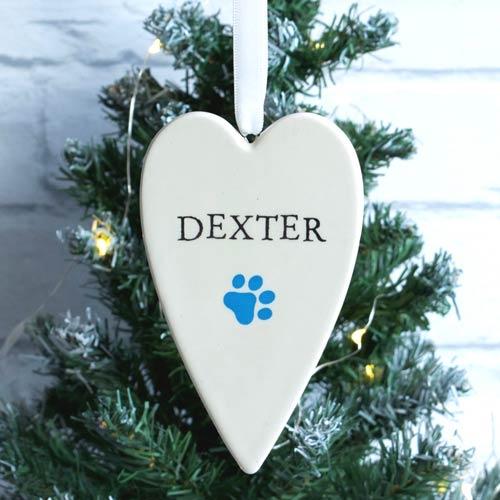 Christmas Heart Decoration.Personalised Heart Tree Decoration